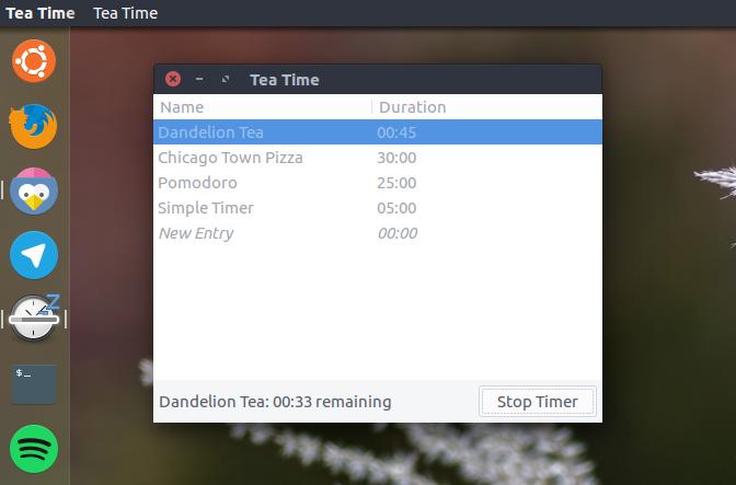 """""""Tea Time"""" – это простой таймер для рабочего стола Ubuntu"""
