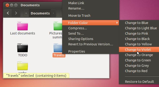 Как легко изменить цвет папок в Ubuntu