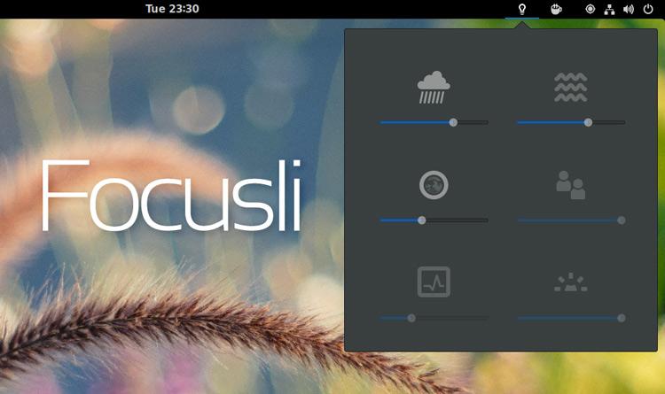 Focusli – это апплет со звуками природы для рабочего стола Gnome