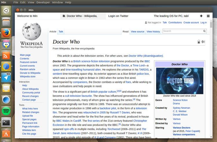 """""""Min"""" значит Минимализм, бесплатный веб браузер для Linux"""