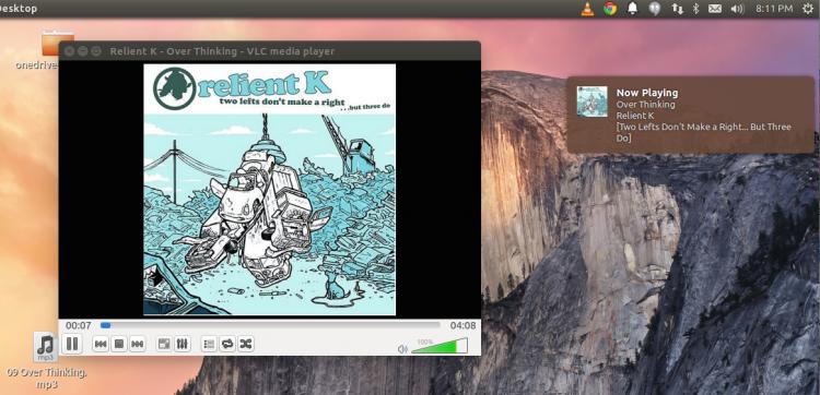 5 щелчков и уведомления от VLC заработают в Ubuntu