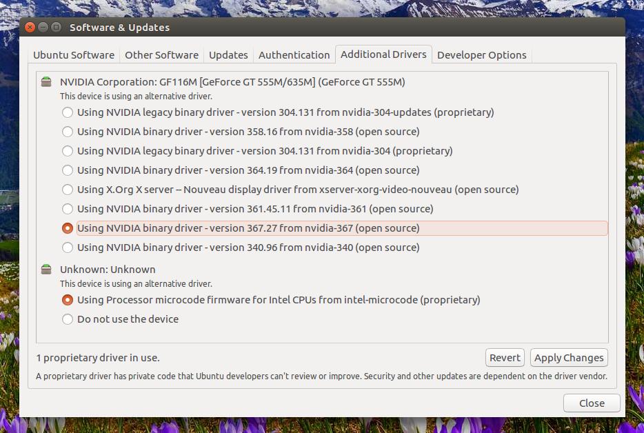 Ubuntu 12.10 Установка Драйверов Intel