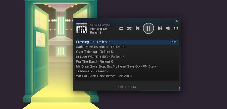 Инструкция по использованию музыкального проигрывателя Steam в Ubuntu