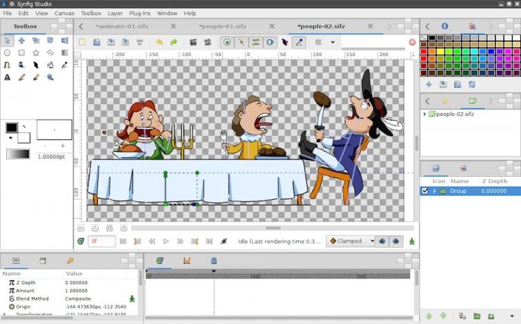 Synfig Studio 1.0 — Солидное бесплатное приложение для создания анимации
