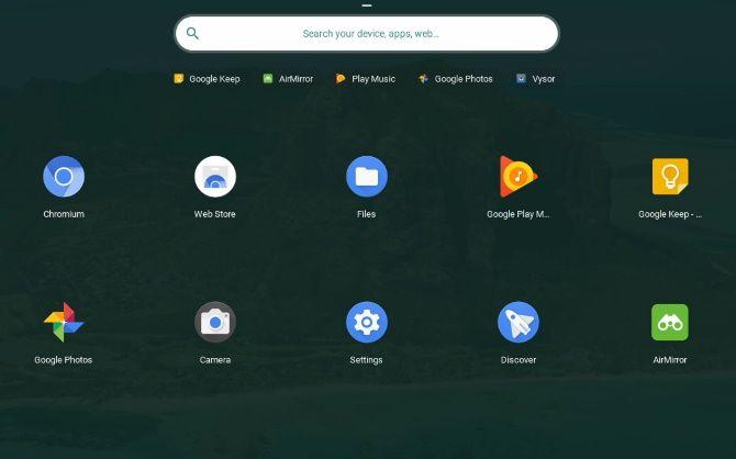 Изображение рабочего стола с иконками приложений