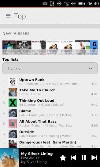 Грядет большое обновление неофициального приложения Spotify для телефонов Ubuntu