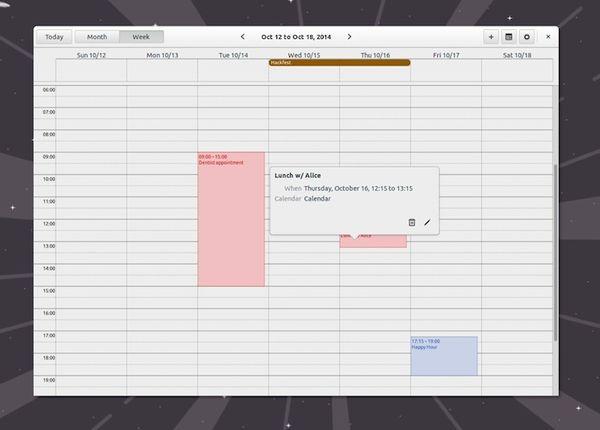 Релиз календарного приложения California 0.2 для Linux